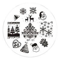 Новогодние диски и пластины
