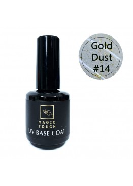 Гель лак Magic Touch  FRENCH BASE/ RUBBER 14 GOLD DUST (15мл.)