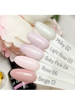 Гель лак Magic Touch  FRENCH BASE/ RUBBER 02 MILKY (15мл.)