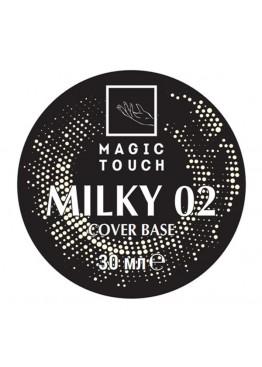 Гель лак Magic Touch  FRENCH BASE/ RUBBER 02 MILKY (30мл.) Гель-лаки