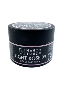 Гель лак Magic Touch  FRENCH BASE/ RUBBER THICK 03 LIGHT ROSE (30мл.)