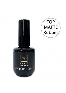 Гель лак Magic Touch  TOP MATTE- RUBBER/ Бархат без липкости15мл.
