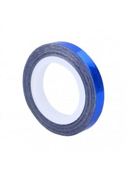 Лента скотч ММ широкая фигугрная синяя