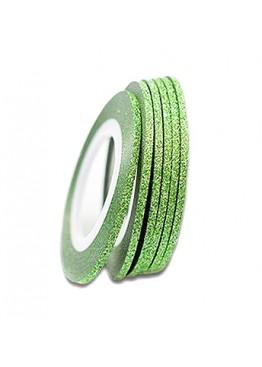 Лента скотч сахарная 2мм Зеленая