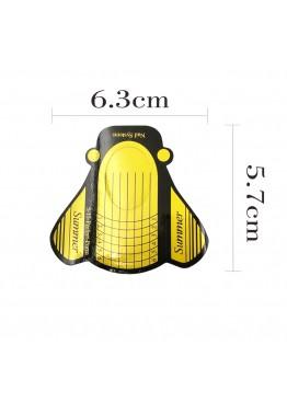 Форма  для ногтей Муха 10 шт