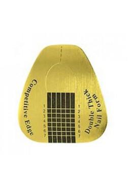 Форма  для ногтей Золотая широкая  10шт.