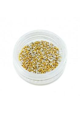 Дизайн Бульонки (ассорти золото + серебро темное)