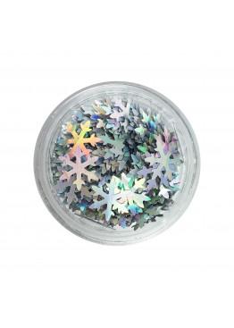 Дизайн Новогодний Снежинки серебро АВ