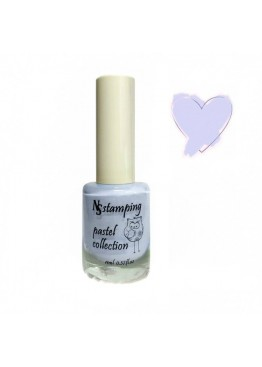 Лак для стемпинга Nail Story Pastel Collection 11мл. Светло голубой (7)