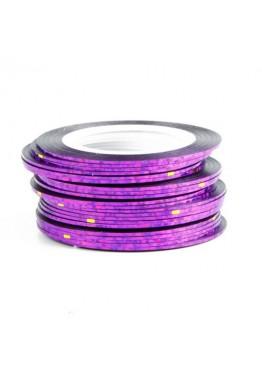 Лента скотч голограмма Фиолетовая