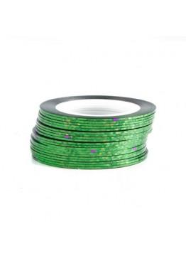 Лента скотч голограмма Зеленая