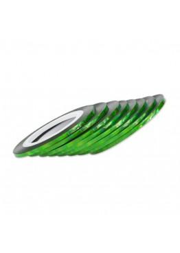Лента скотч 2мм зеленая голограмма