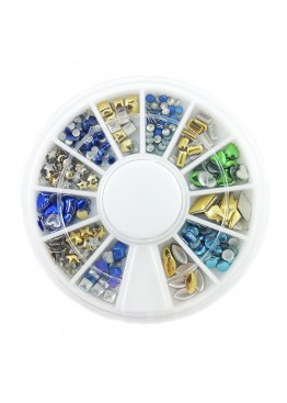 Металлический Дизайн ММ карусель 08 золото, серебро, цветные.