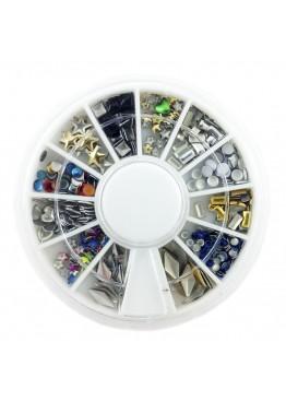 Металлический Дизайн ММ карусель 09 золото, серебро, цветные