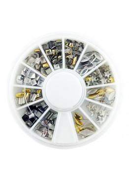 Металлический Дизайн ММ карусель 11 черный золото серебро