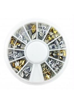 Металлический Дизайн ММ карусель 12 золото серебро