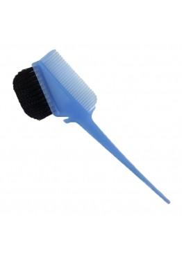 Щетка для окрашивания волос ММ с гребнем голубая