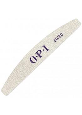 Пилка O.P.I полумесяц серая  80/80