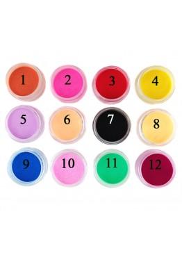 Бархатный песок (цветная пудра) ММ набор 12 цветов
