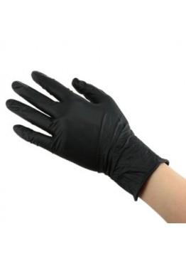 Перчатки нетриловые не опудренные Черные (S) 80 шт высок/ плот