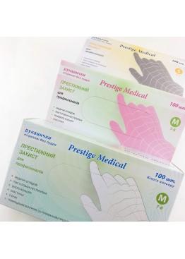 Перчатки нетриловые не опудренные Prestige Medical Белые (L) 100 шт