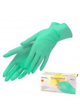 Перчатки нетриловые не опудренные Prestige Medical Зеленые (L) 100 шт