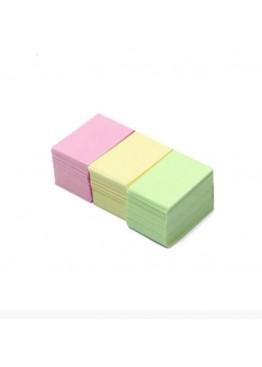 Одноразовые Салфетки снятия липкого слоя (100 шт цветные)