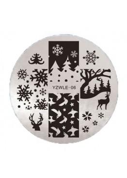 Стемпинг ММ диск YZWLE 06 Новогодний