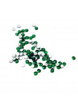 Стразы Emerald - изумруд зеленый  (SS 3) 100шт.
